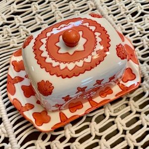 Anthropologie Butter Dish and Lid